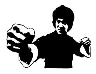 320x247 Bruce Lee 1 Decal Sticker