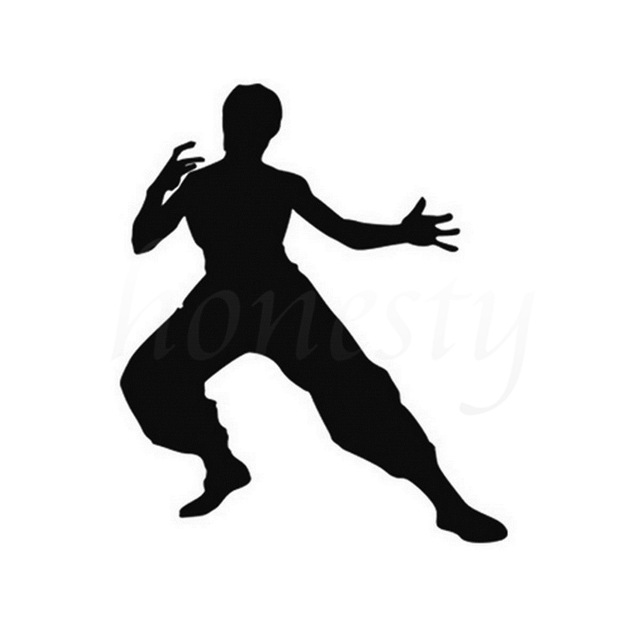 640x640 Bruce Lee Kongfu Funny Car Stickers Motorcycle Car Accessories