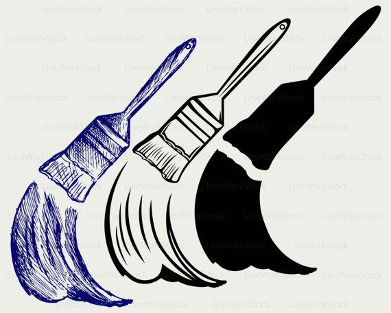 570x456 Paint Brush Svgrush Clipartpaint Brush Svgrush Silhouette