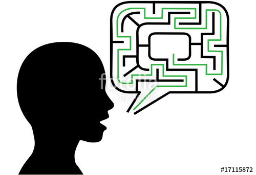 500x343 Puzzled Person Silhouette Talks In Maze Speech Bubble Solution