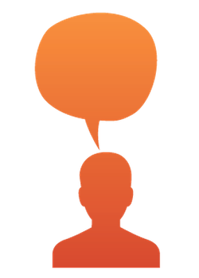 286x399 Set Head Silhouette With Speech Bubble Clipart The Arts