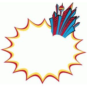 300x300 Silhouette Design Store Gotham Word Bubble Super Hero Fun