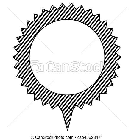 450x470 Silhouette Cloud Circle Chat Bubble, Vector Illustration