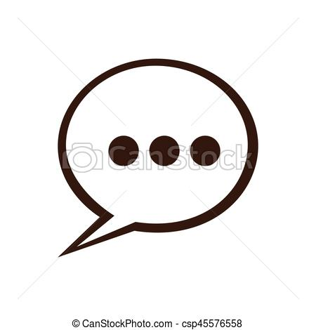 450x470 Silhouette Speech Bubble With Suspending Points Icon Vector