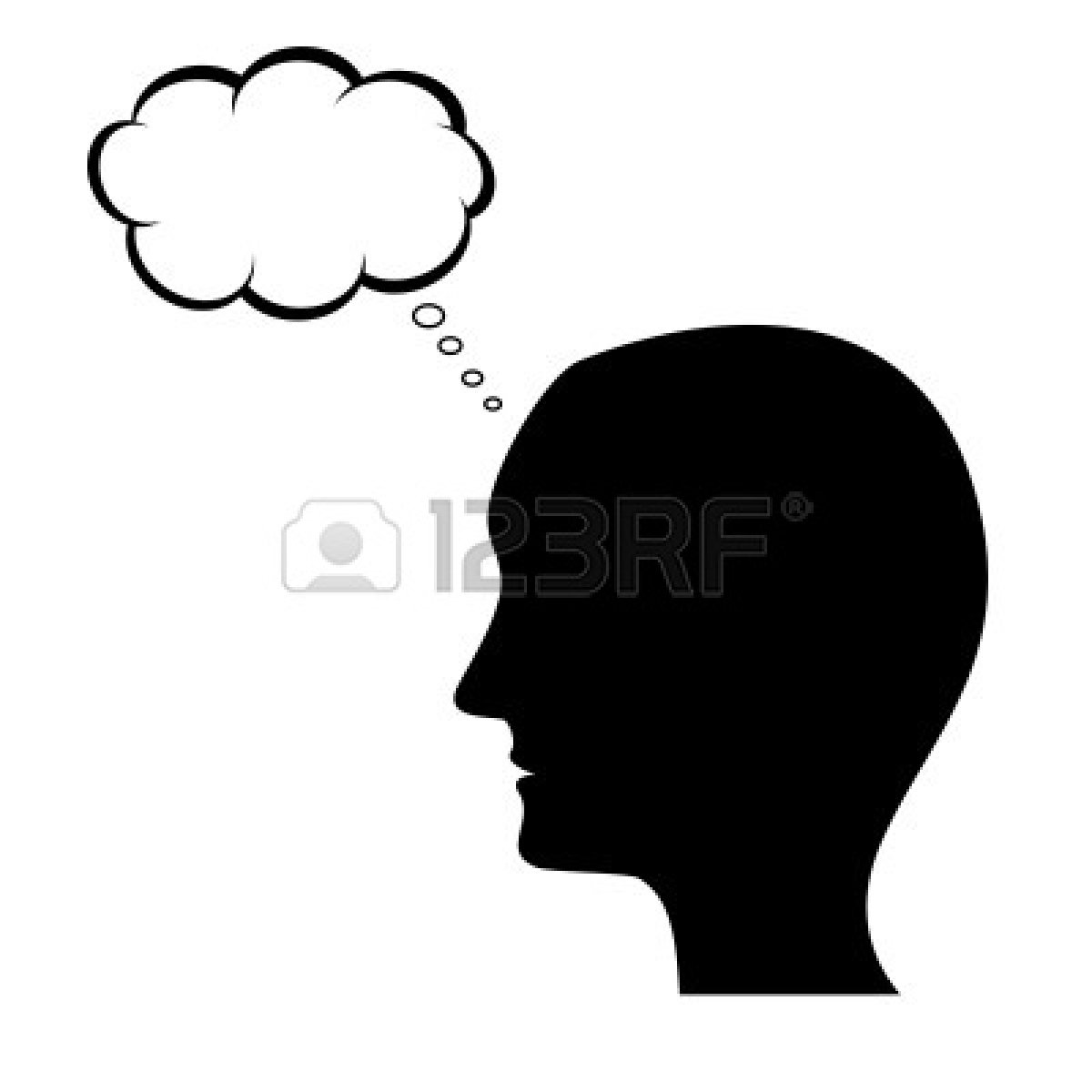 1200x1200 Thinking Man Silhouette With Clipart Panda
