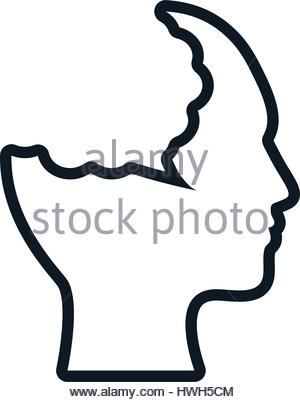 300x402 Woman Silhouette With Speech Bubble. Profile View Vector Stock