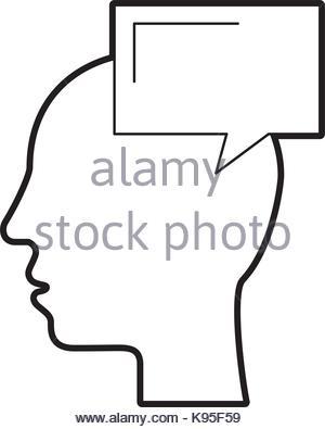 300x395 Silhouette Head Male Bubble Speech Outline Stock Vector Art