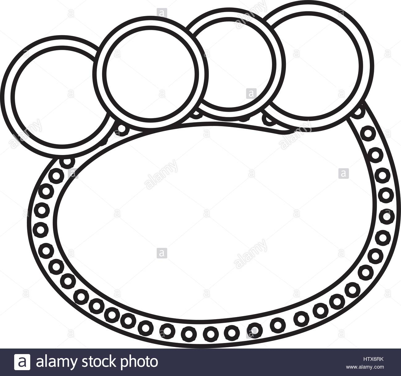 1300x1218 Silhouette Oval Bubble With Circles Stock Vector Art