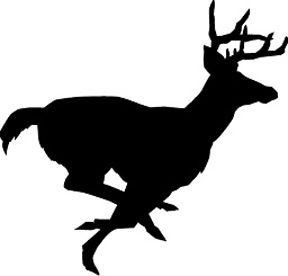 288x276 Deer Buck Stag Running Silhouette Noble Aspirations