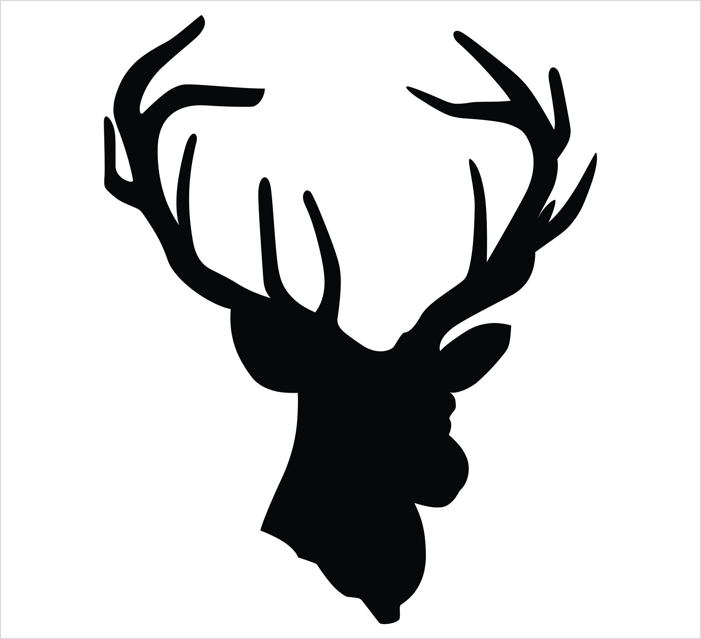 2360x2151 Deer Head Single Color Decal