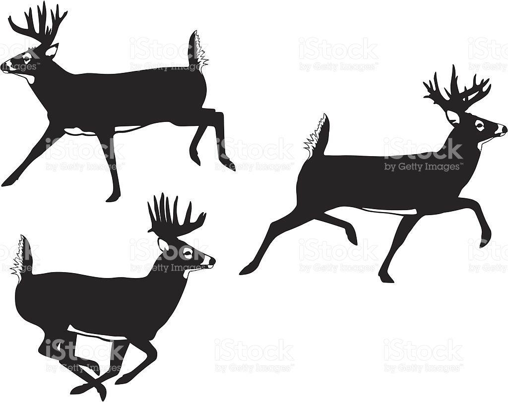1024x811 Image Result For Running Buck Deer Silhouette Deer