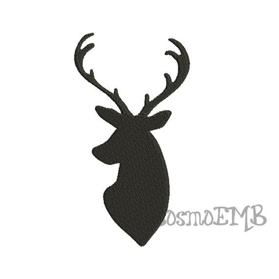 570x570 6 Size Buck Deer Silhouette Embroidery Design Machine