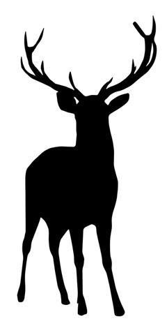 240x480 Buck Deer Silhouette Decal Sticker