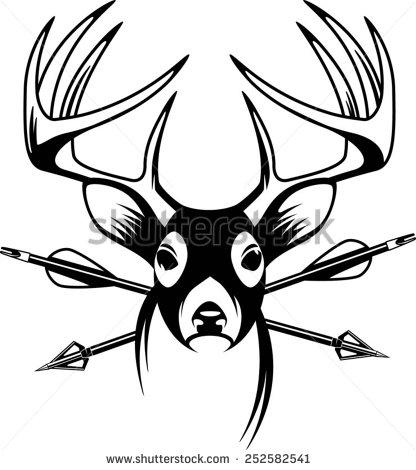 416x470 Whitetail Deer Clip Art
