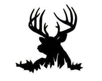 340x270 Deer Head Silhouette Buck Clipart Panda