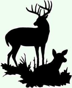 236x288 Whitetail Deer Silhouette Clip Art