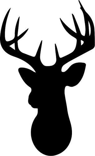 305x500 Deer Head Silhouette Clipart