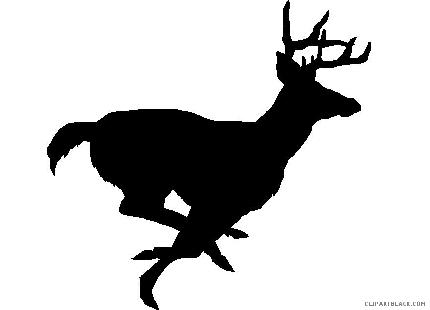879x634 Deer Silhouette Clipart Black And White