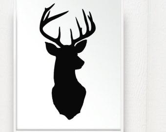 340x270 Deer Head Silhouette Clipart