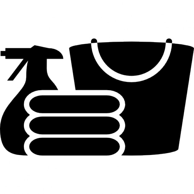 626x626 Cleaning Materials Silhouette Icons Free Download
