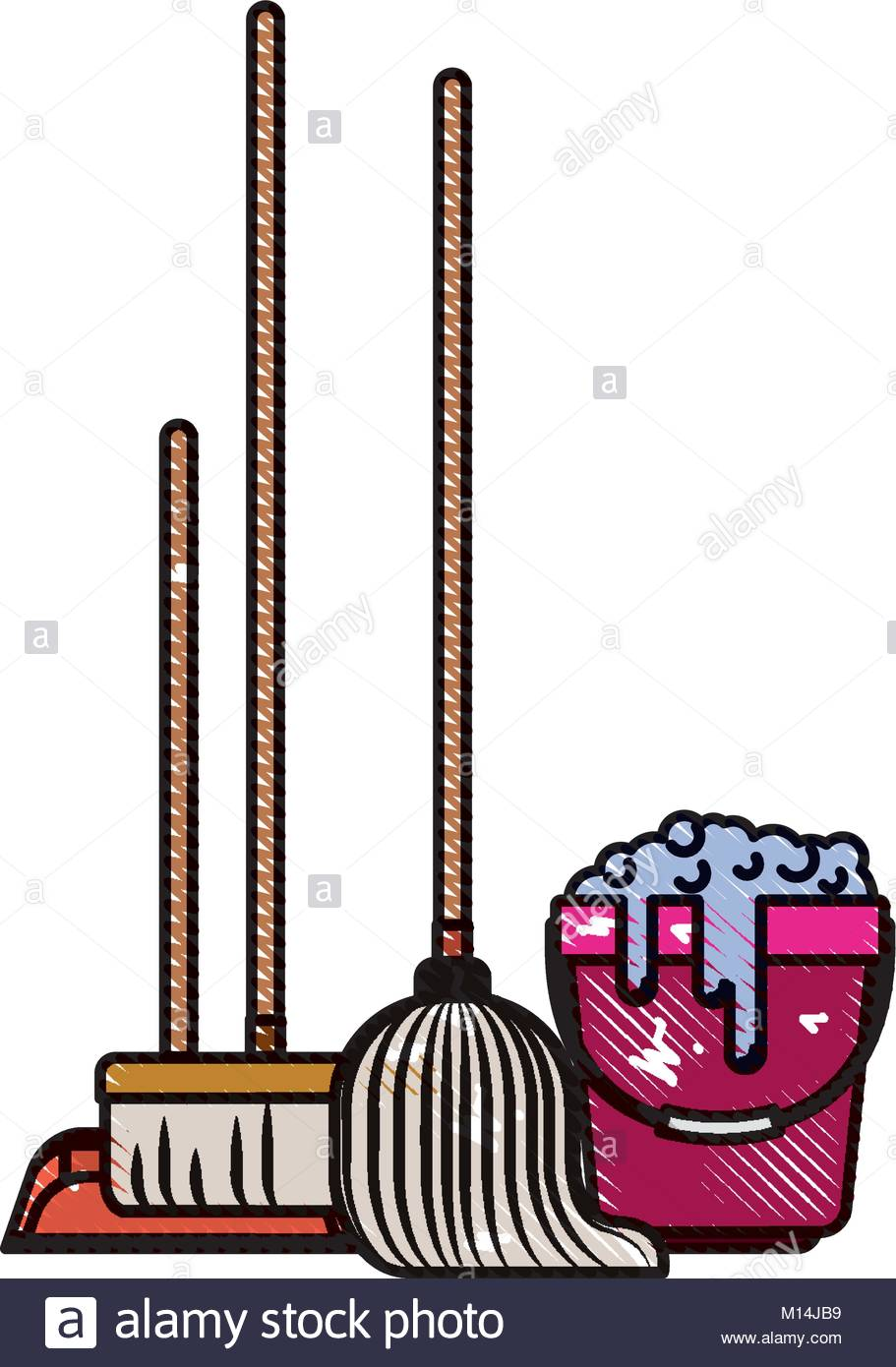 911x1390 Dustpan And Broom And Mop And Bucket With Water And Soap Detergent