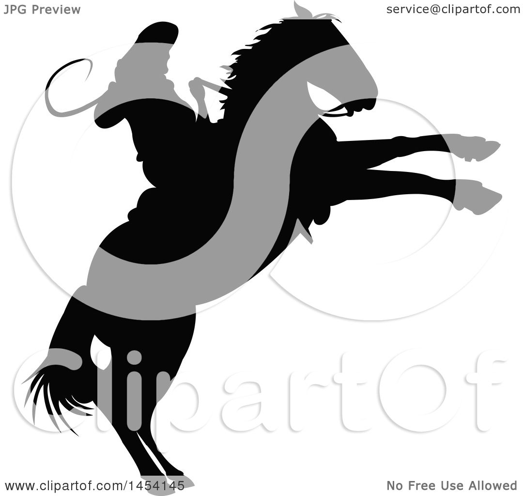 1080x1024 Clipart Graphic Of Black Silhouetted Horseback Rodeo Cowboy On