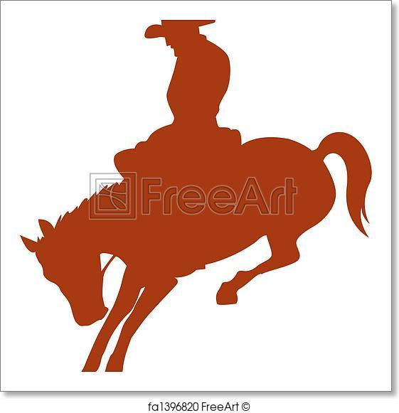 561x581 Free Art Print Of Rodeo Rider Cowboy Horse Silhouette. Rodeo Rider