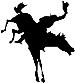 300x330 Bucking Bronco Car Or Truck Window Decal Sticker