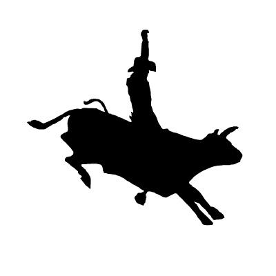 400x400 Bucking Bull Western Decal 12