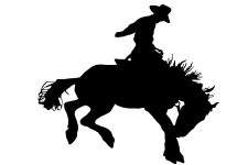 225x150 Cowboy On Horse Silhouettes ~ Karen's Whimsy
