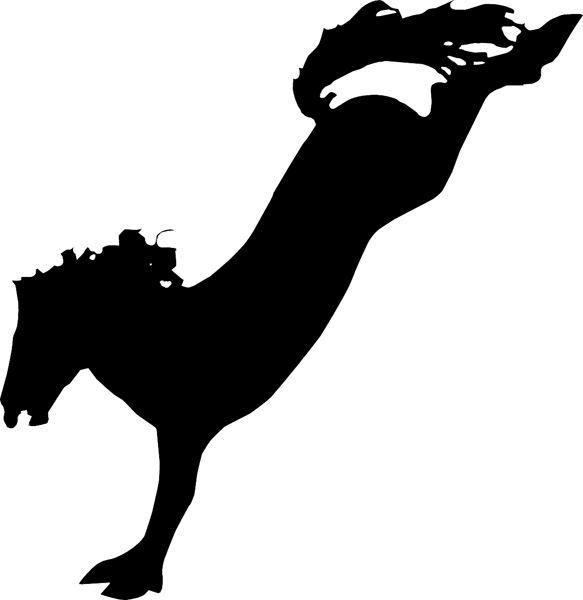 Bucking Horse Silhouette Clip Art