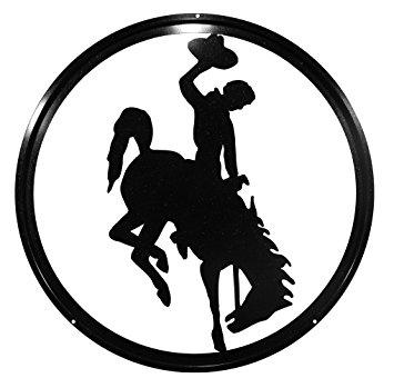 355x349 U Of Wyoming Cowboys Cowgirls Bucking Horse 24 Black