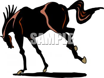 350x265 Picture Of A Horse Bucking In A Vector Clip Art Illustration