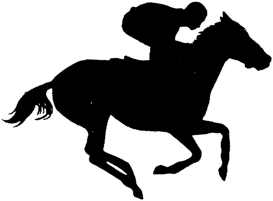 900x663 Racing Horse Clipart