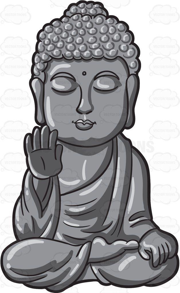 Buddha Head Silhouette