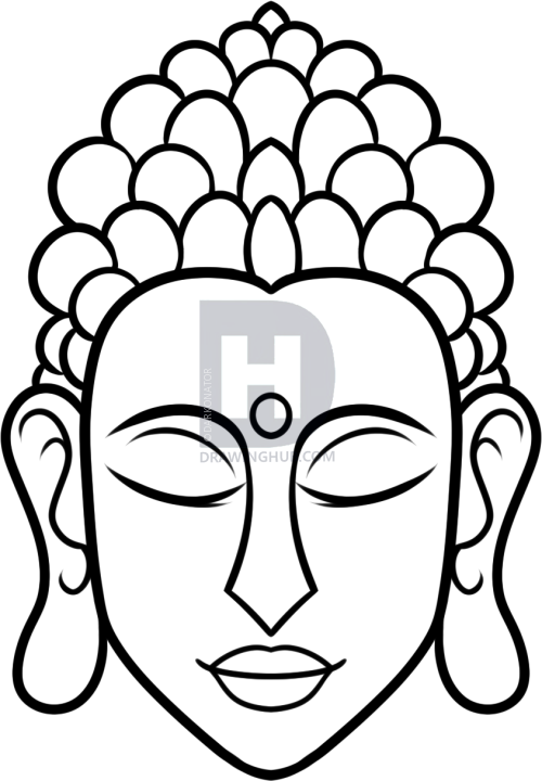500x720 How To Draw Buddha Easy, Step By Step, Drawing Guide, By