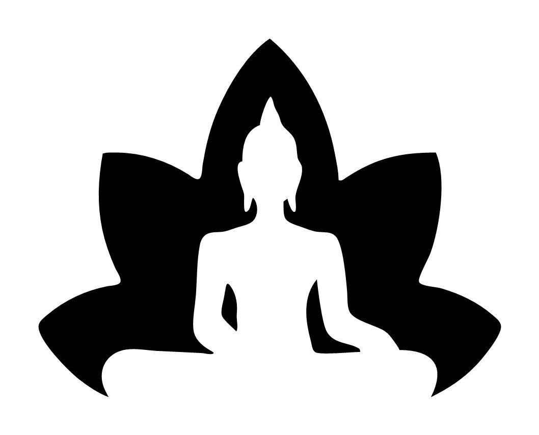 1058x854 Lotus With Buddha Silhouette Zen Decal Buda Buddha