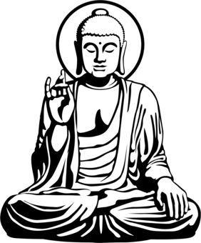 282x340 Pin By B B On B Print Buddha, Outlines And Silk Painting