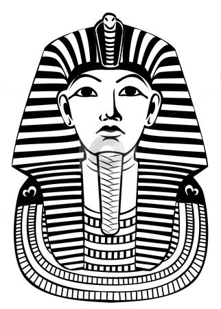 322x450 Pharaoh Head Vector