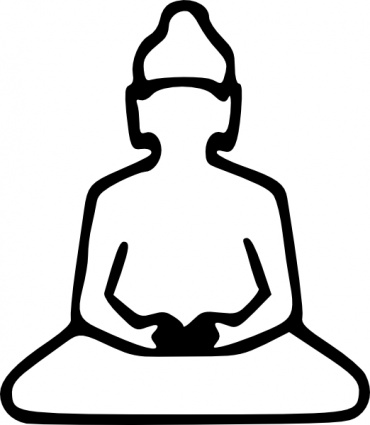 370x425 Buddha Outline Clip Art Vector, Free Vector Images
