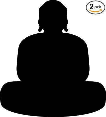 425x469 Angdest Buddha Silhouette (Black) Waterproof Vinyl