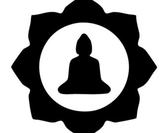 340x270 Lotus With Buddha Silhouette Zen Decal By Cloudymedecals On Etsy