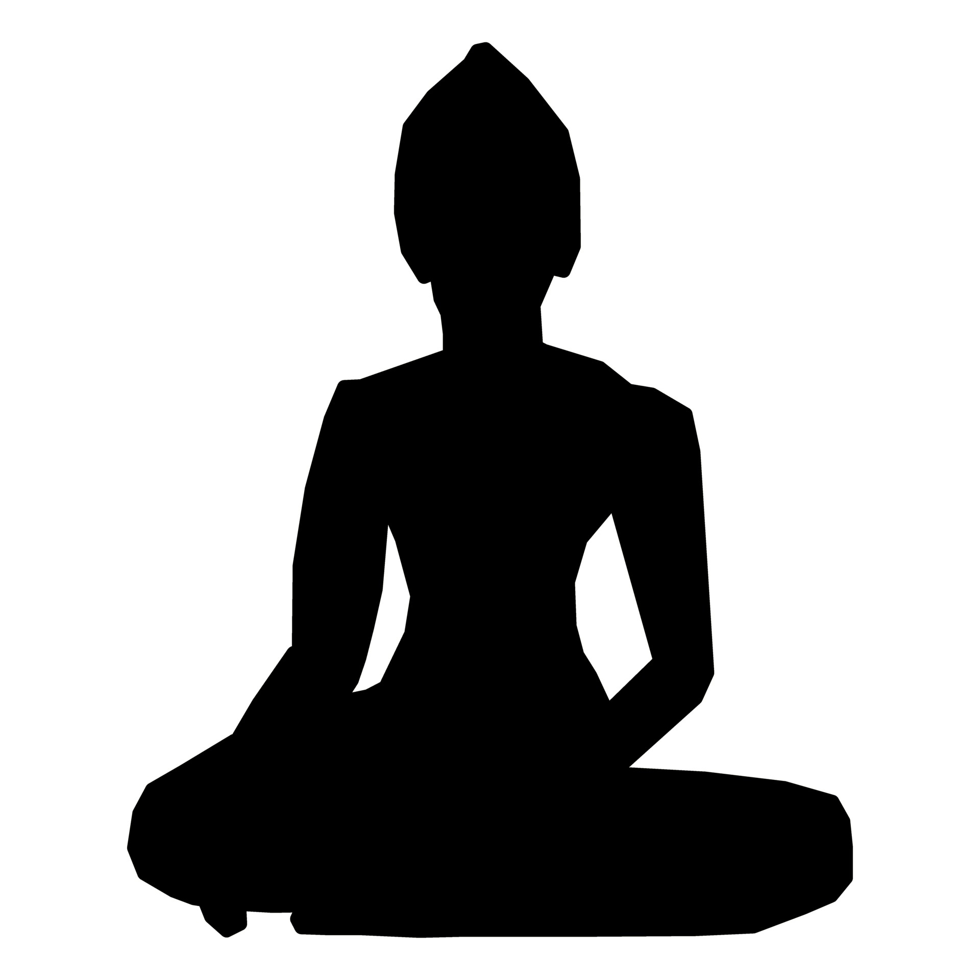 1920x1920 Silhouette Of Buddha Free Stock Photo