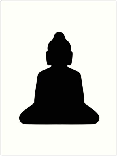 413x549 Buddha Silhouette Art Prints By Jwdolgos Redbubble