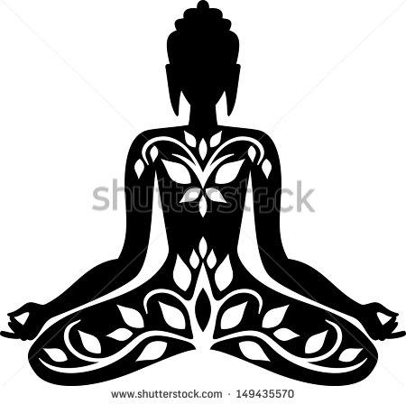 450x448 Buddha Silhouette Clipart