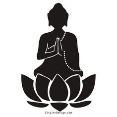 236x236 Meditating Buddha Silhouette Png Clip Art Silhouette