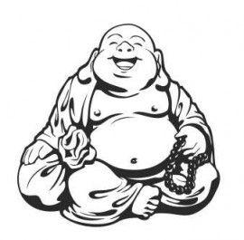 270x265 Muursticker Buddha Beeld Muurstickers Collectie Muurstickers