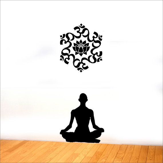 570x570 The Universal Om Symbol Buddha Sacred Indian Lotus Flower Nelumbo