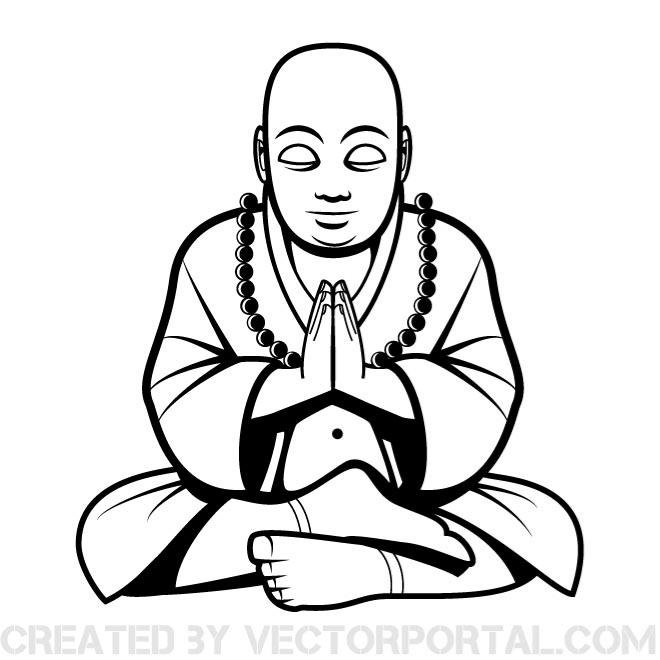 Buddha Silhouette Vector Free Download