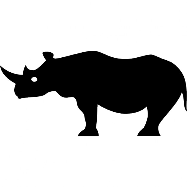 626x626 Buffalo Side View Silhouette Icons Free Download